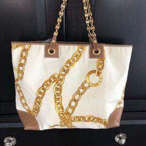 Celine Leather-Trimmed Printed Canvas Tote Bag